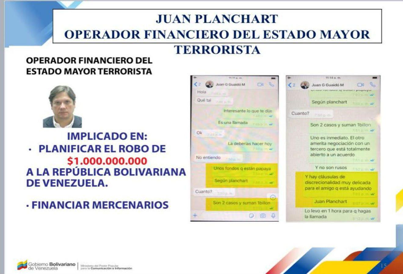 Juan Planchart se encuentra detenido en el Sebin de Plaza Venezuela