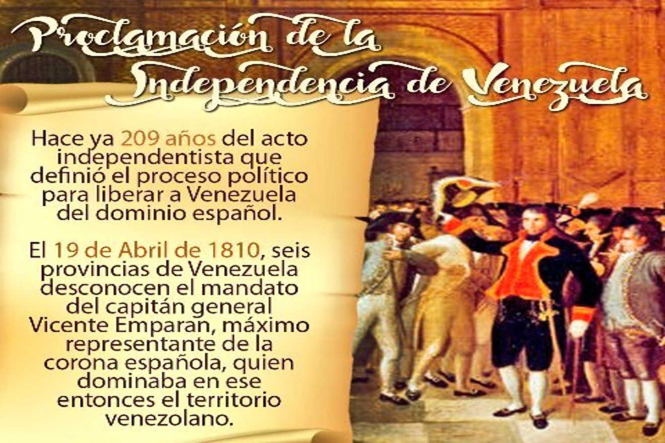Conmemoran en Venezuela 209 años del inicio de la independencia