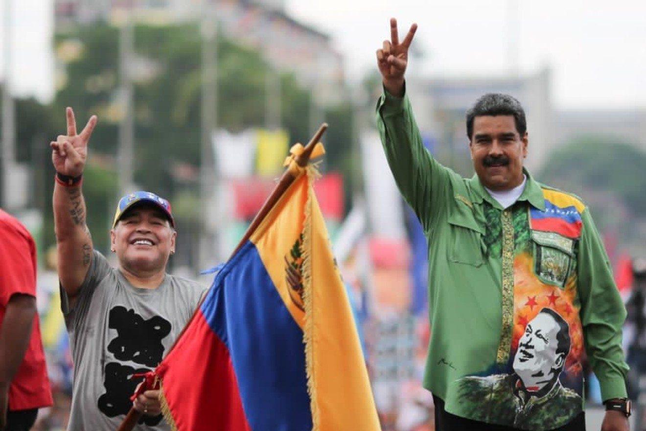 Maradona ayudó a Venezuela en